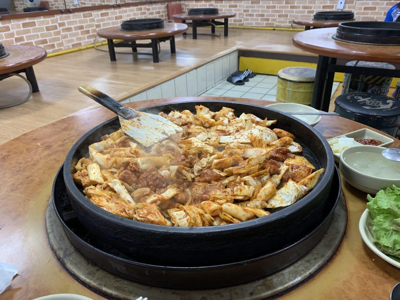 Dakgalbi in Chuncheon Myeongdong Dakgalbi Street