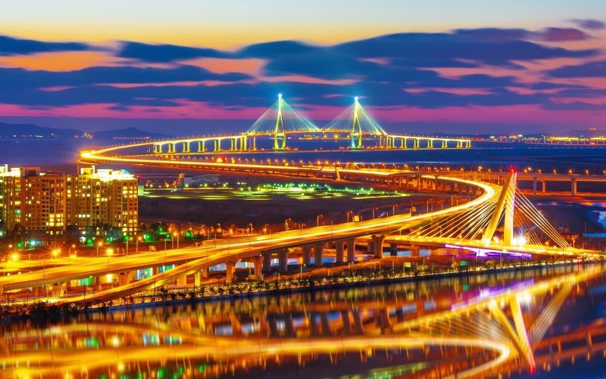 Incheon views at night
