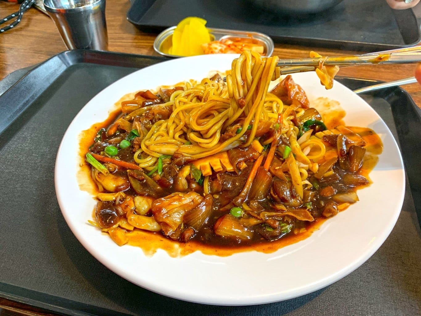 Famous jajangmyeon (black bean noodles) in Incheon Chinatown