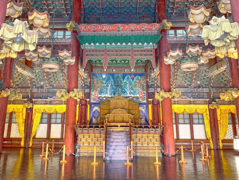 Inside Injeongjeon at Changdeokgung