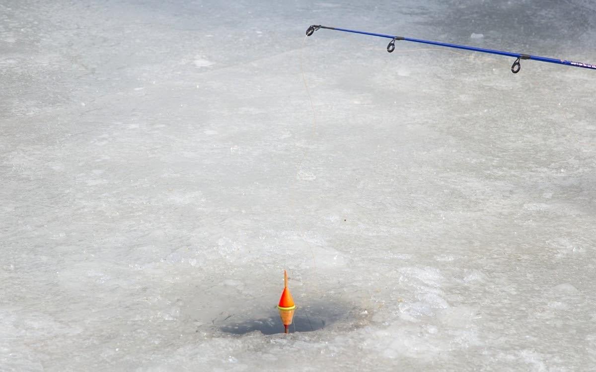 Ice fishing is a popular winter in Korea activity