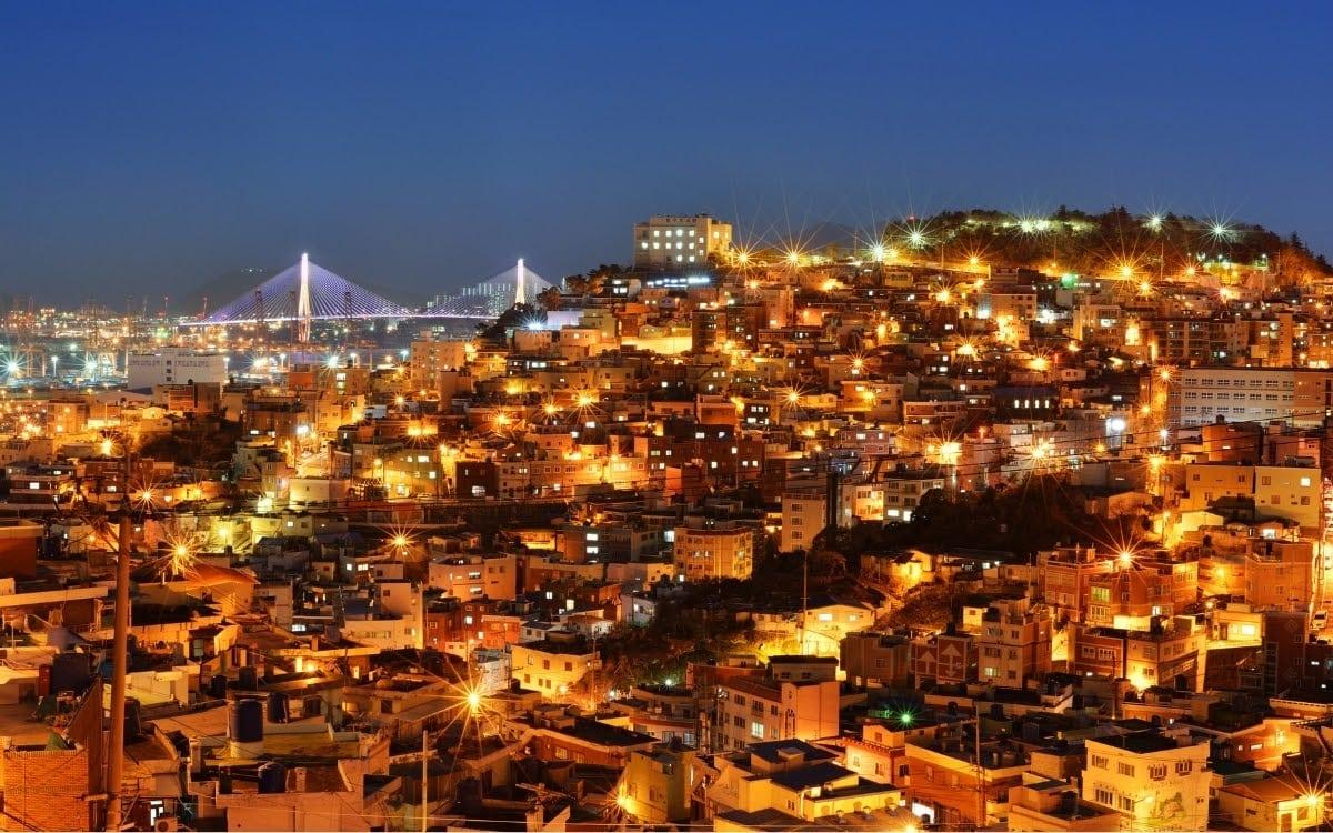 Busan scene at night