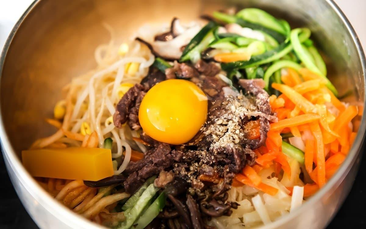 Delicious and colorful Jeonju bibimbap