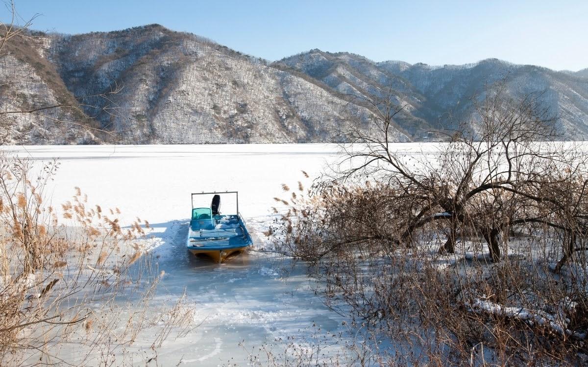 Winter scene in Hwacheon
