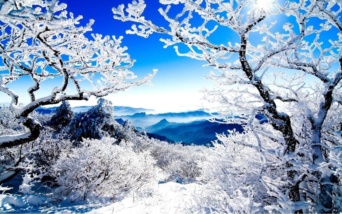Taebaeksan winter views