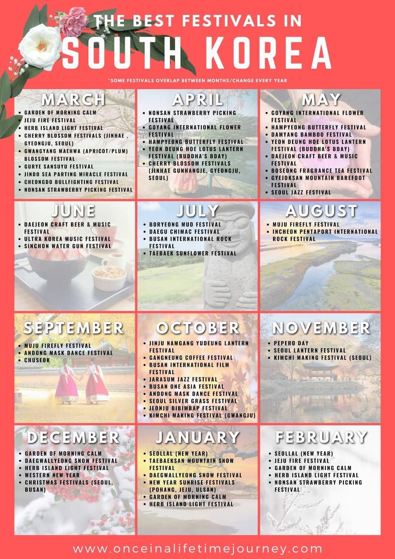 South Korean festivals calendar