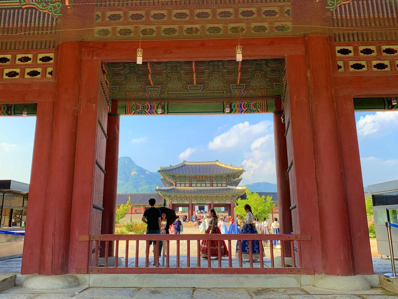 Gyeongbokgung in Central Seoul