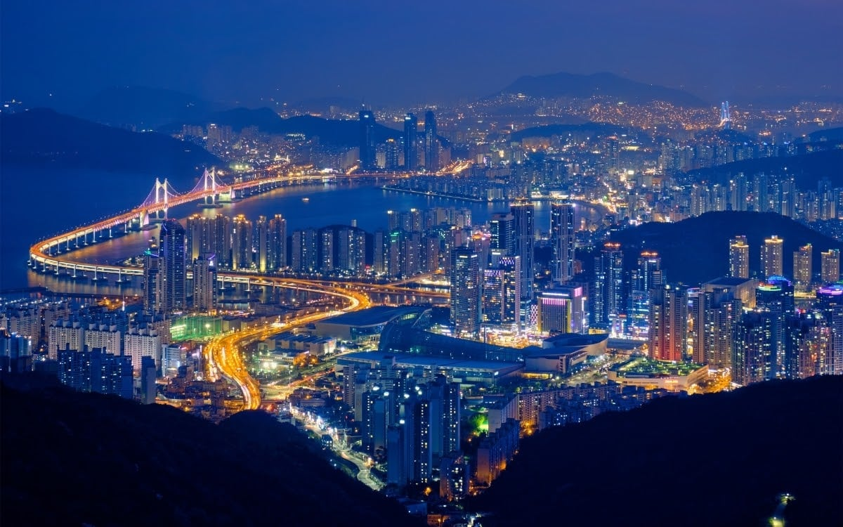 Busan night scene