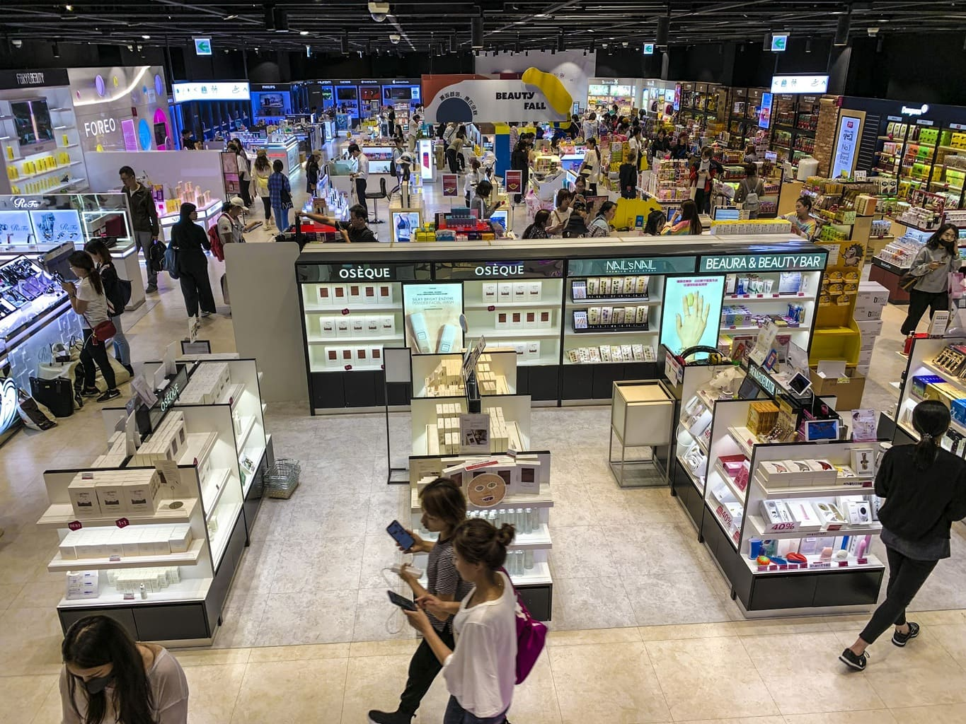Most department stores have instant duty free services