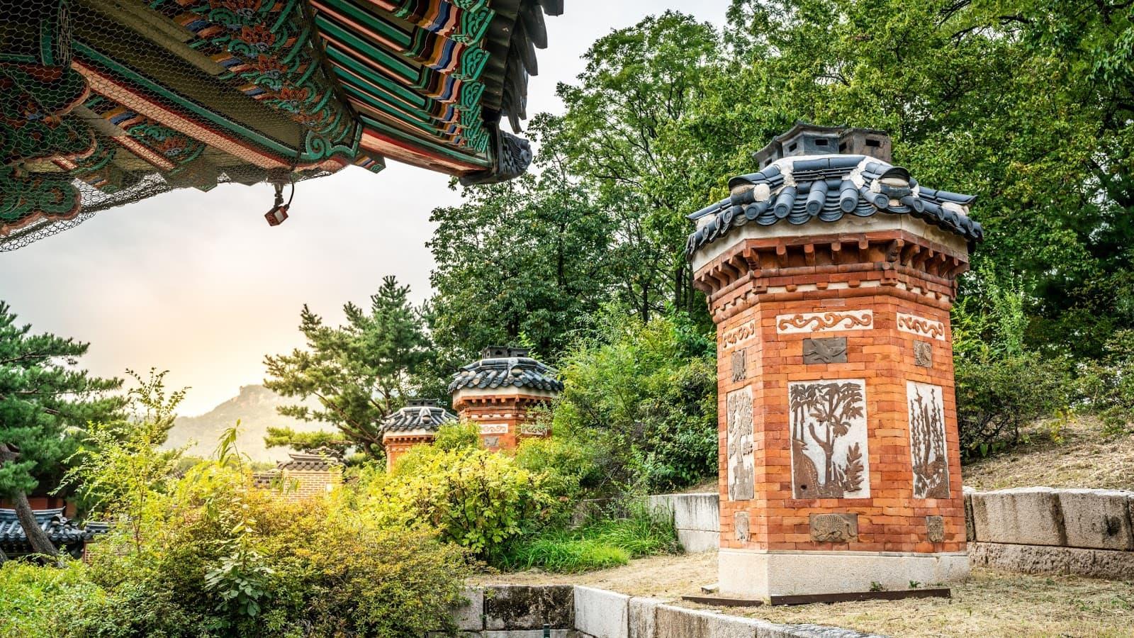 Olden day ondol heating furnace in Gyeongbokgung Palace