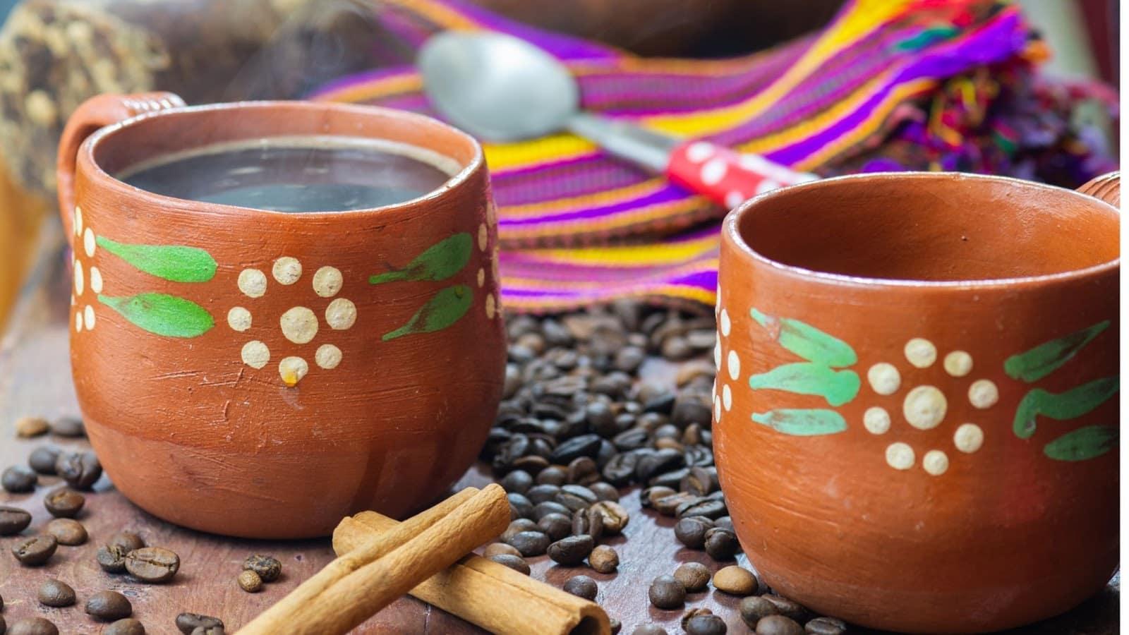 Unique clay pot Café de Olla from Mexico