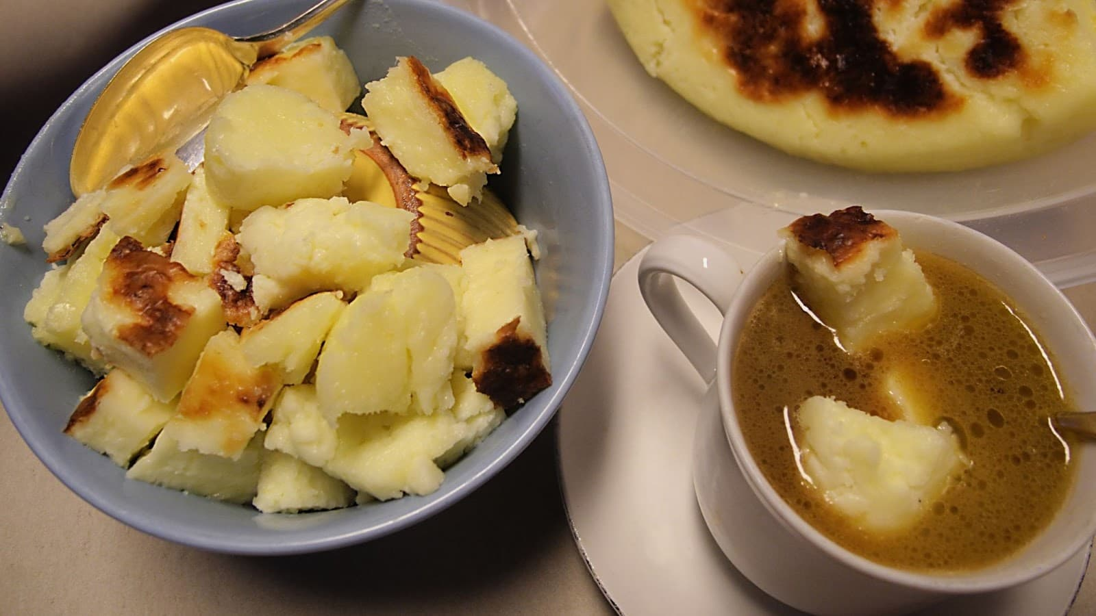 Kaffeost or cheese coffee can be found throughout Scandinavia