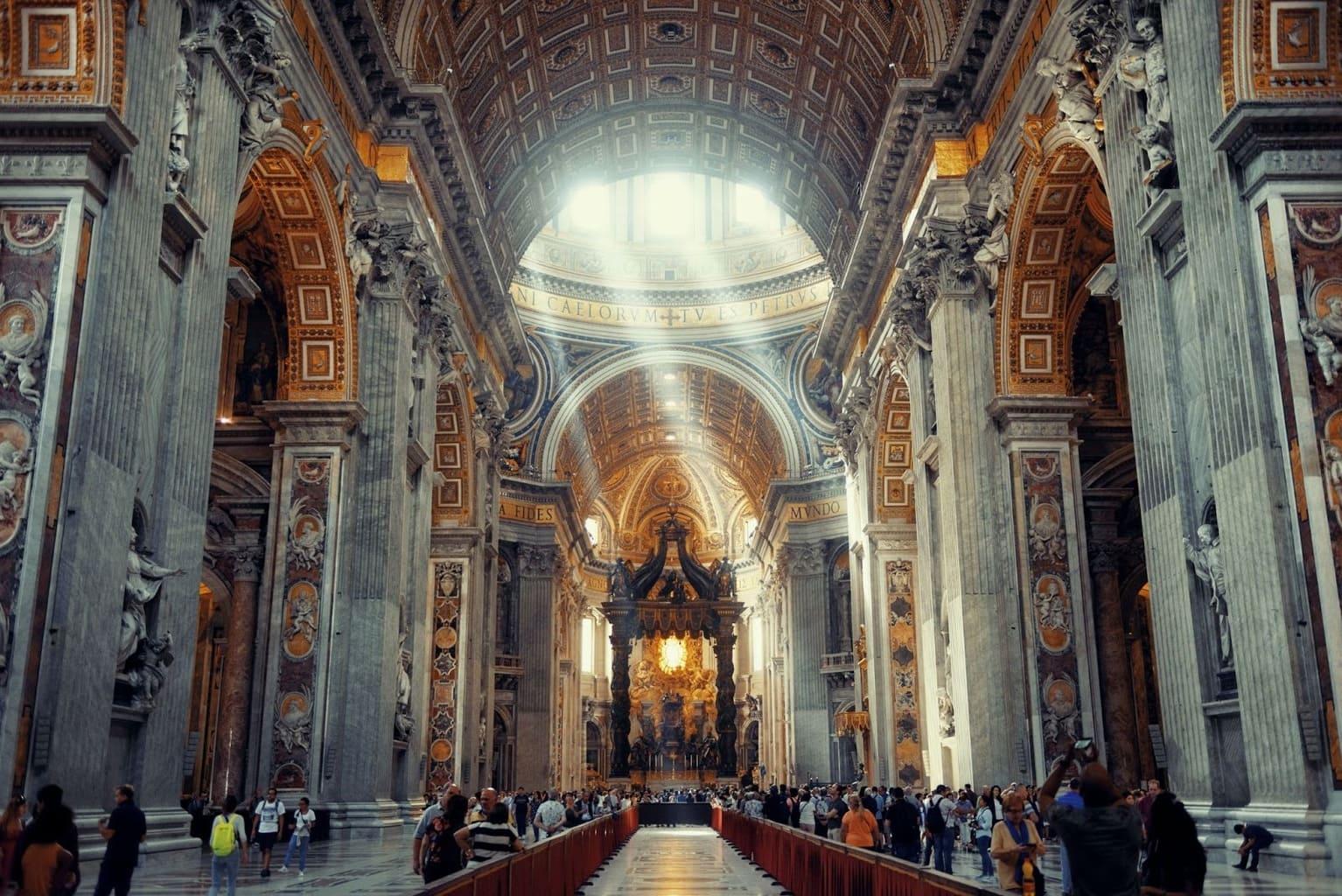 St Peter's basilica interior