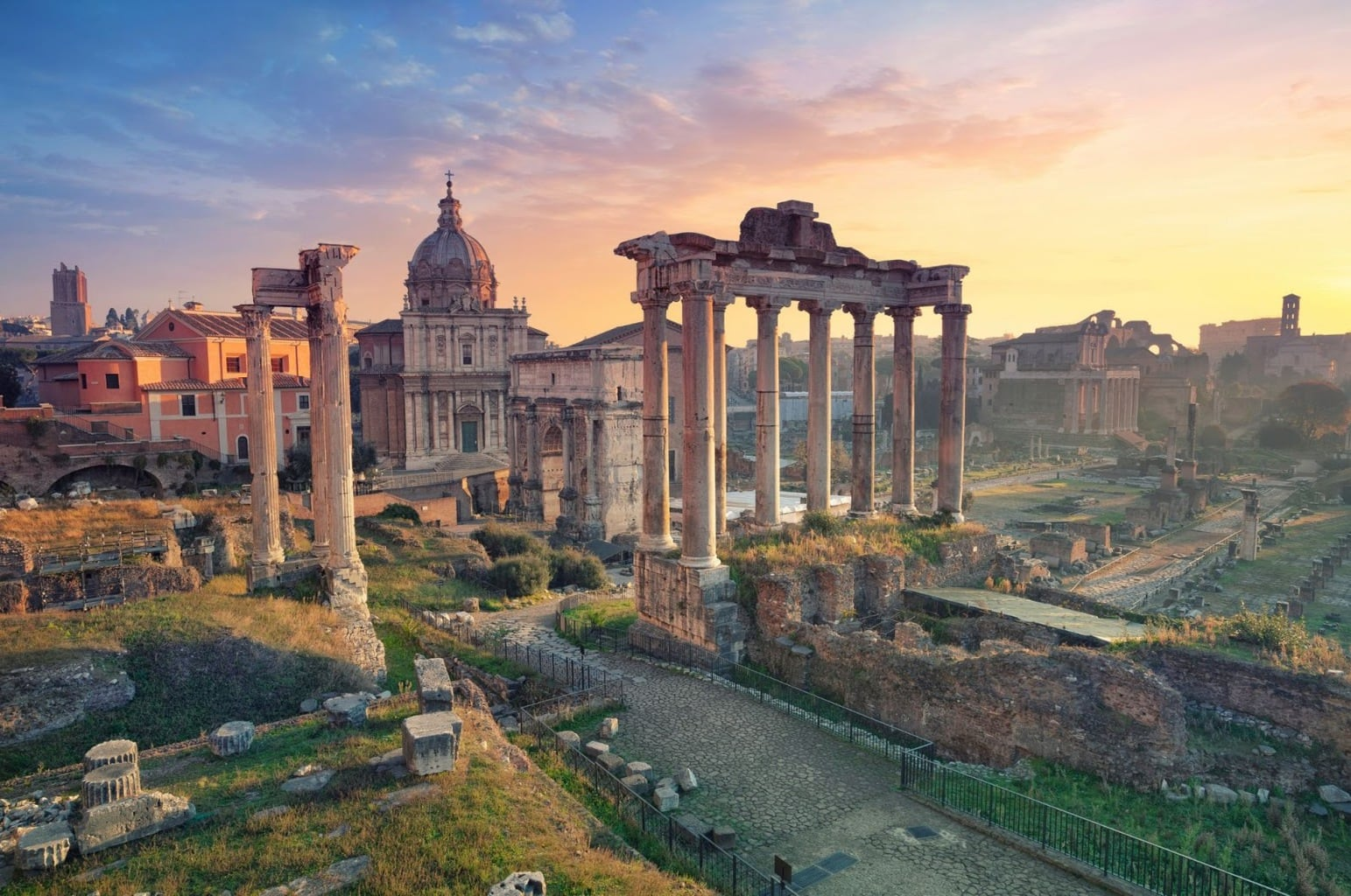 The remains of the Roman Forum