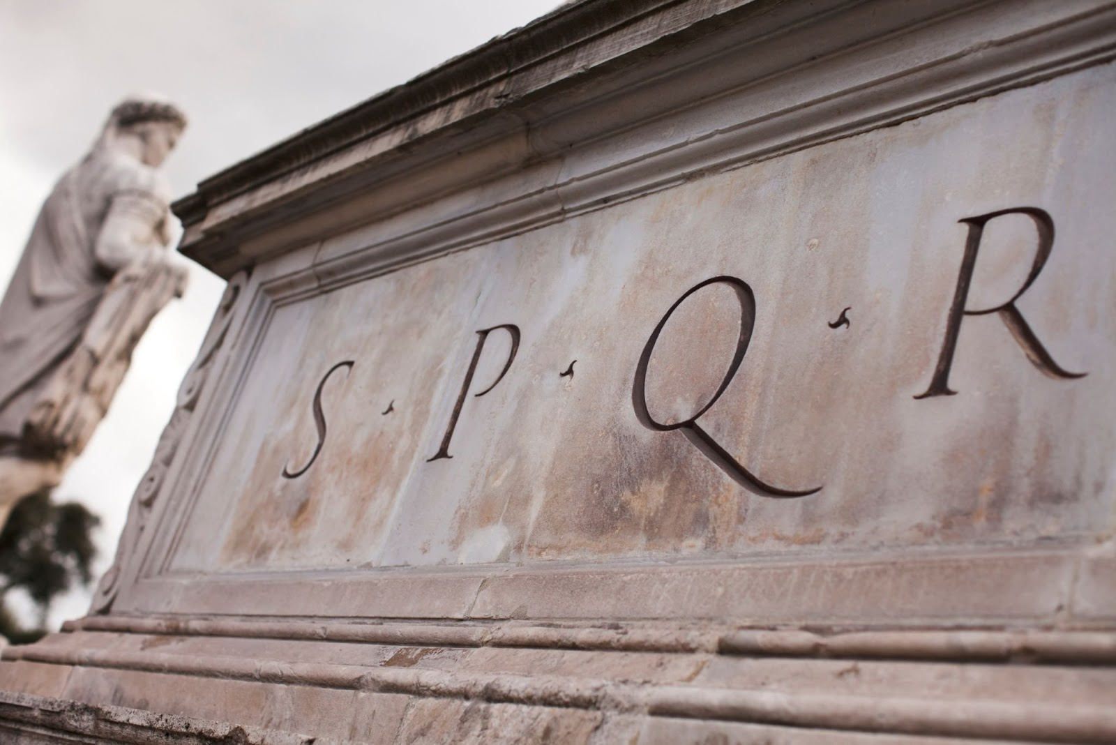 You will see SPQR all over Rome
