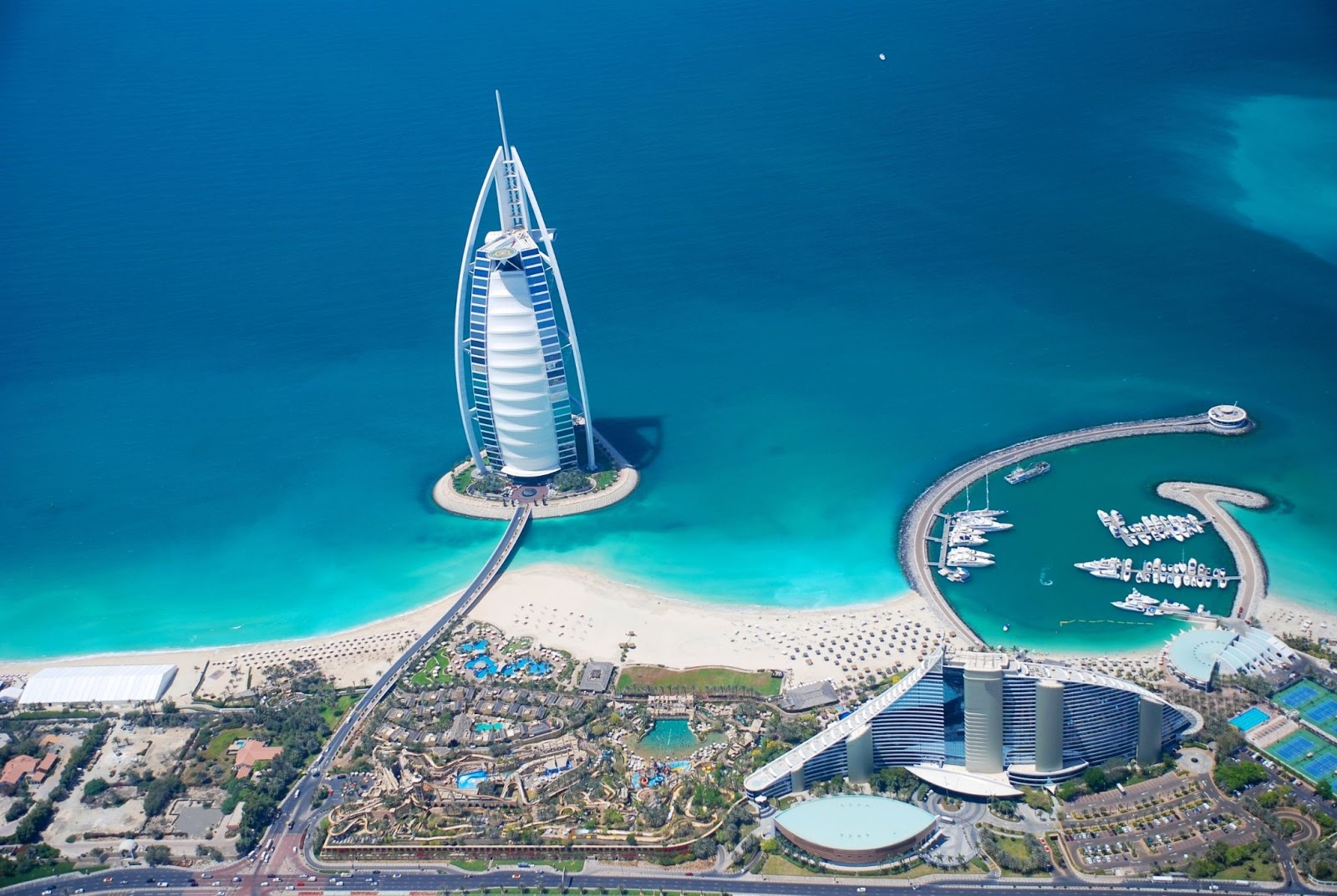 The iconic Burj Al Arab designed after a