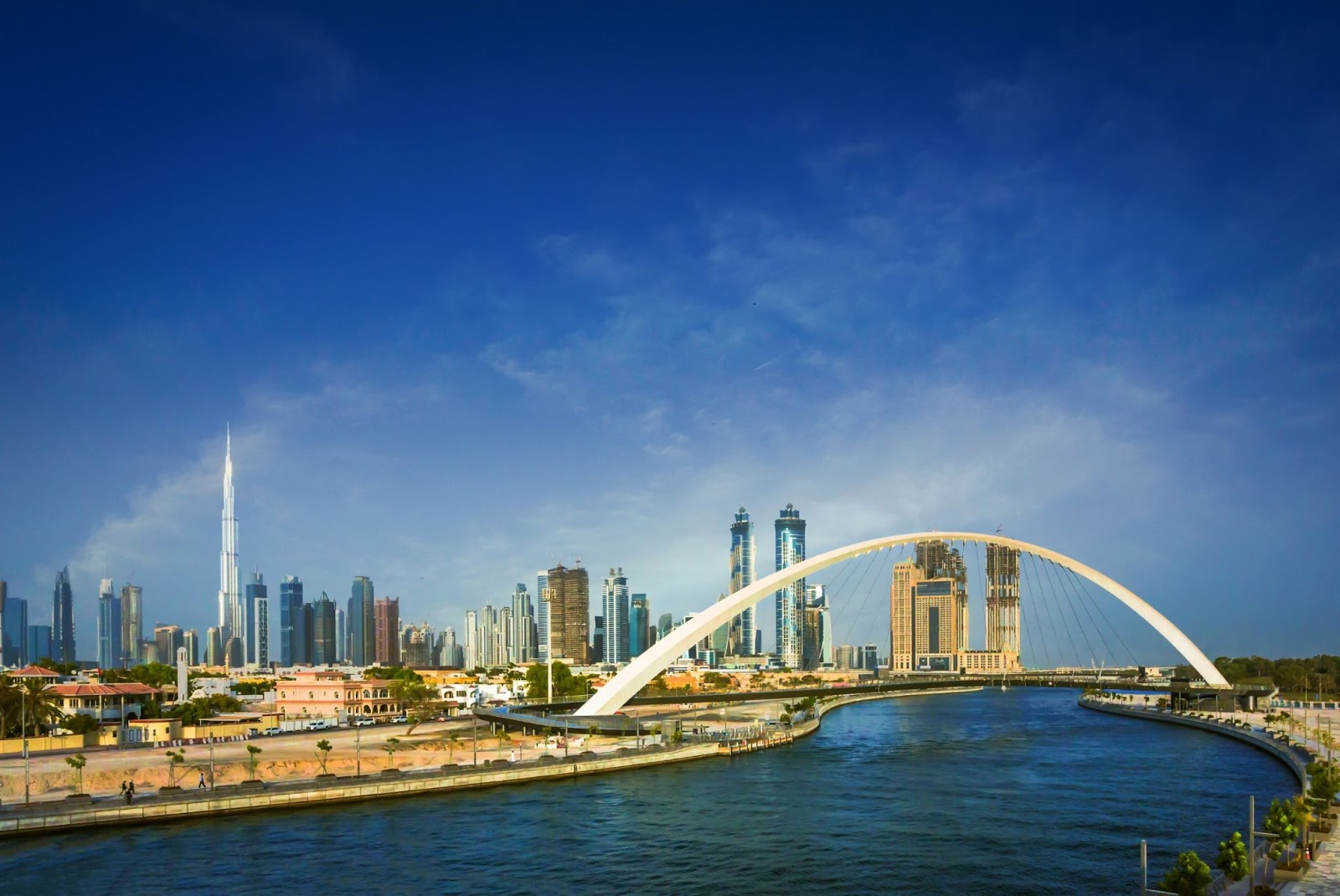 Much of Dubai's water is desalinated water from the sea, thanks to its dry desert location.
