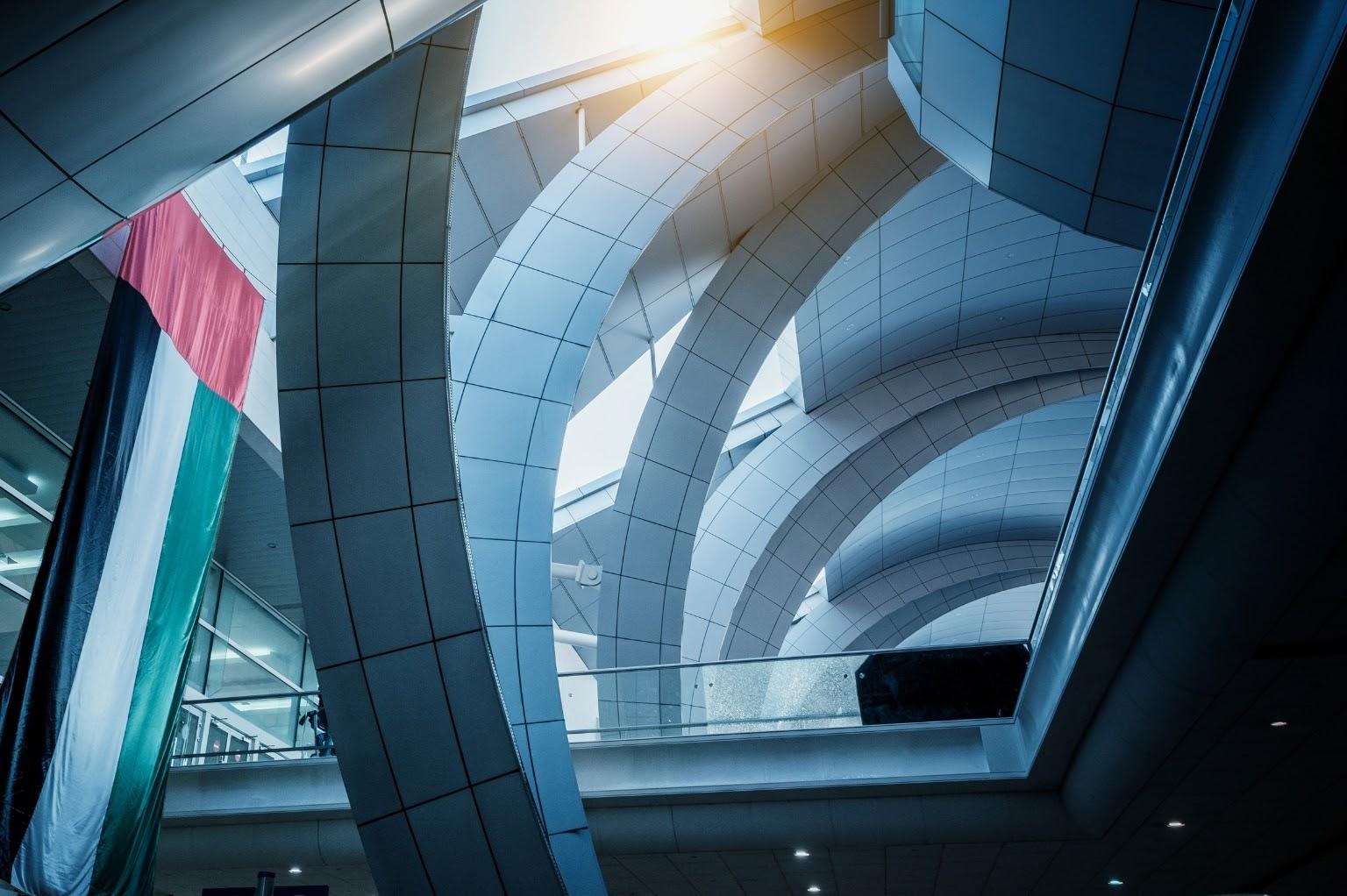 Interior of Dubai International Airport