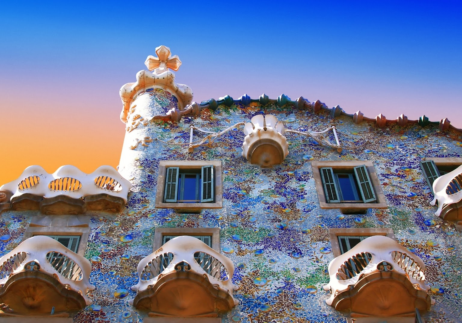 Gaudi's UNESCO sites are all over the city