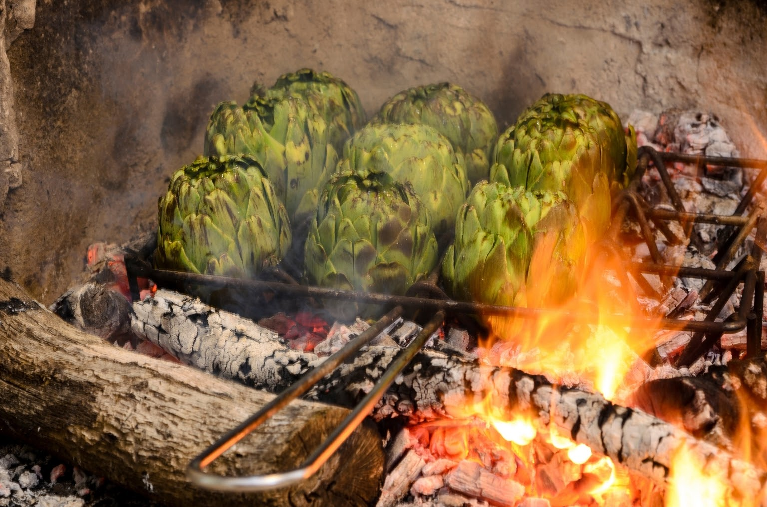 Open fire barbecue is typically Catalan