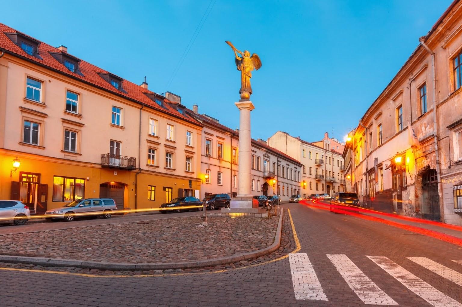 Uzupis Angel in the main square