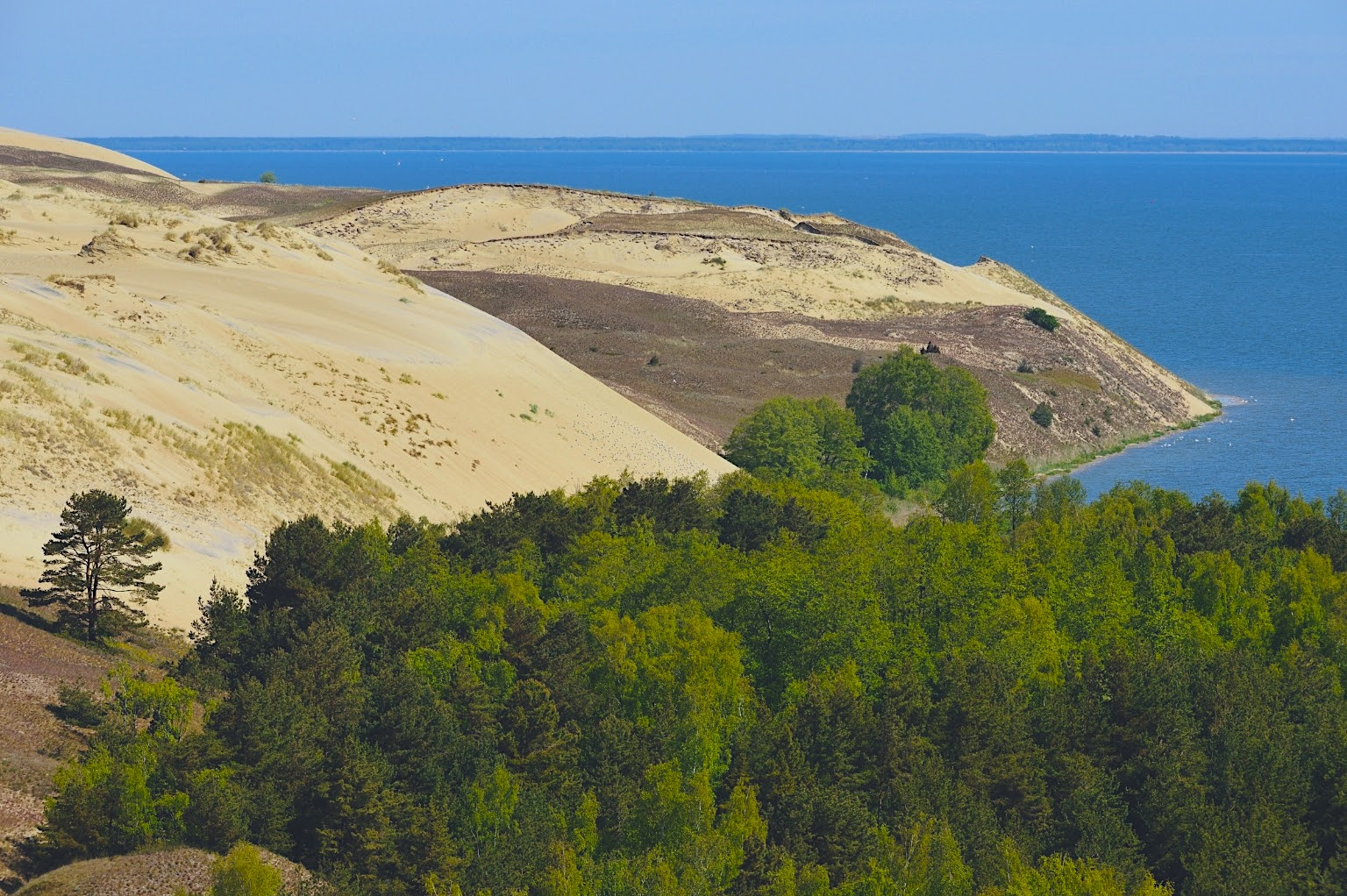 The shifting Curonian Spit in Lithuania