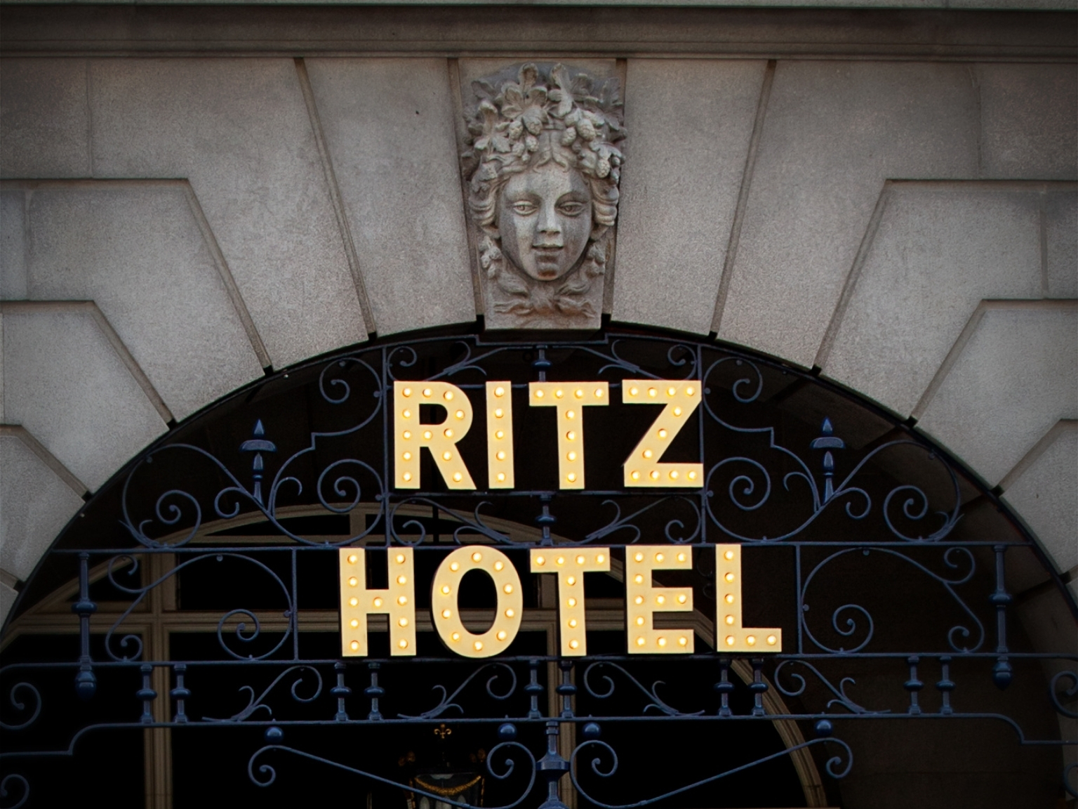 Entrance to the Ritz Hotel
